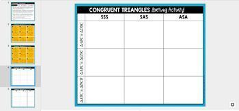 Congruent Triangles Sorting Activity - GOOGLE SLIDES VERSION