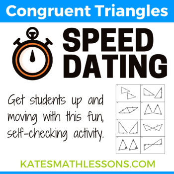 Congruent Triangles Speed Dating Activity (SSS, SAS, ASA, AAS, and HL)