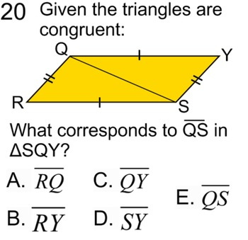 Congruent Triangles, 5 proofs, Study Guide + 11 Assignments for PDF