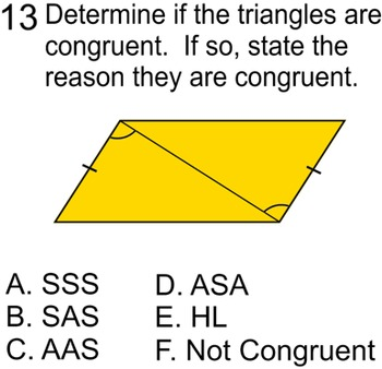 Congruent Triangles, 5 proofs, Study Guide + 8 Assignments for Power Point