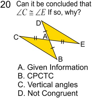 Congruent Triangles, 5 proofs, Study Guide + 8 Assignments for SMART