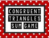 Congruent Triangles Sum Game