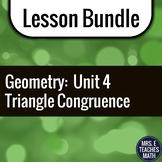 Congruent Triangles Unit Bundle
