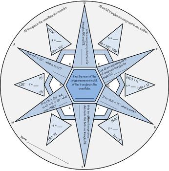 Congruent Triangles: Winter Snowflake