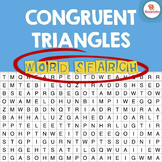Congruent Triangles Word Search Activity