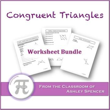 Congruent Triangles Worksheet Bundle