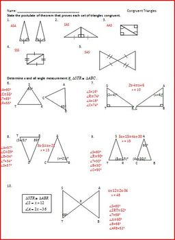 Congruent Triangles and Constructions (WS)