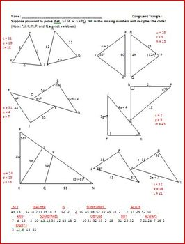 Congruent Triangles and Constructions (WS) by Rita Rhinestone | TpT