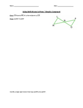 Congruent Triangles with Proofs & Rigid Motions