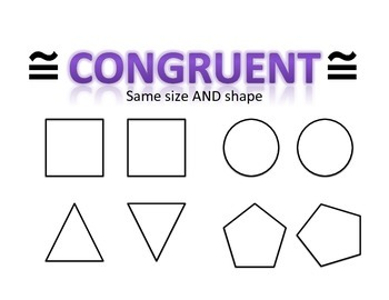 Congruent and Similar Anchor Charts