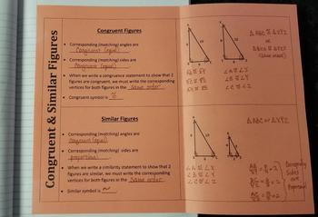 Congruent and Similar Figures (Foldables)