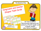 Geometry - Congruent and Similar Shapes Task Cards