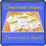 Congruent shapes scavenger hunt