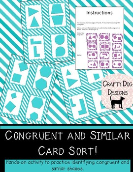 Congruent vs Similar Card Sort