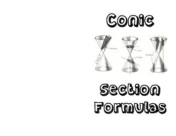 Conic Section Foldable Notes