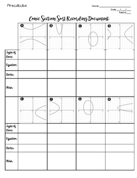 Conic Section Sort / Matching Activity