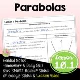 Algebra 2 Parabolas