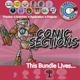 Conic Sections -- Geometry & Algebra 2 Curriculum Unit Bundle