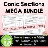 Conic Sections MEGA Bundle (Algebra 2 - Unit 10)