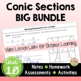 Conic Sections BIG Bundle (Algebra 2 - Unit 10)