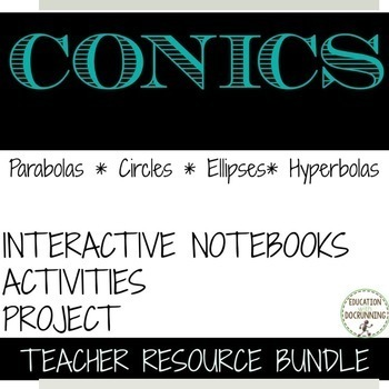 Conic Sections Bundle Parabolas Circles Ellipses and Hyperbolas