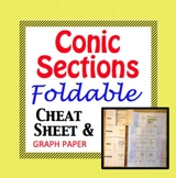 Conic Sections Cheat Sheet - Foldable for Circle, Parabola, Ellipse, Hyperbola