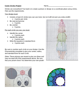 Conic Sections Circles Project