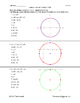 Conic Sections - Circles in Standard Form