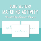 Conic Sections Equation Matching Activity