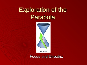 Conic Sections: Exploration of the Parabola PowerPoint
