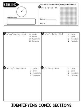 conic sections flip book circles ellipses hyperbolas parabolas. Black Bedroom Furniture Sets. Home Design Ideas