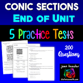 Conic Sections Huge Review Test Study Guide 200 questions