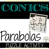 Conic Sections Parabola Puzzle Activity for Algebra 2 or P