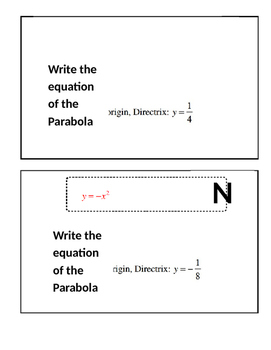 Conic Sections: Parabola Scavenger hunt