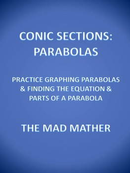 Conic Sections - Parabola Worksheet