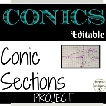 Conic Sections Project  EDITABLE Parabolas, Circles, Ellipses, Hyperbolas