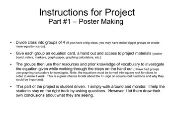 Conic Sections Project - Prentice Hall Algebra 2