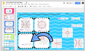 Conic Sections Sort and Match with Google Slides™