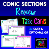 Conic Sections Review Task Cards QR Plus HW  Quiz
