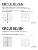 Conic Sections Test Review