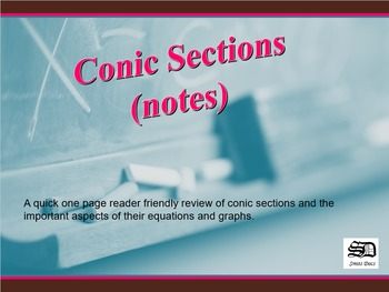 Conic Sections (notes)