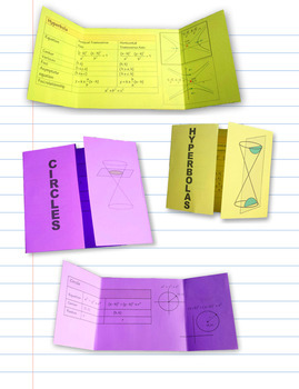 Conic Sections Cheat Sheet Reference Sheet plus Foldable ...