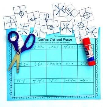 Conics: Cut and Paste Activity