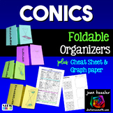 Conic Sections Foldable Organizers plus Cheat Sheet