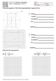 Conics - Hyperbolas: Equations, Graphing, Center, Vertices