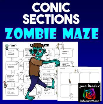 Conics Maze with Zombie Theme