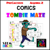 Conic Sections Maze with Zombies