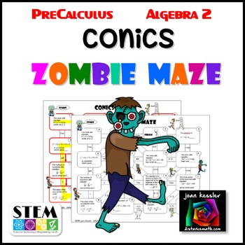 Conics Maze with Zombie Theme