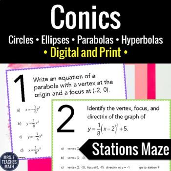 Conics Stations Maze Activity