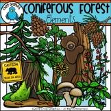 Coniferous Forest Elements Clip Art - Chirp Graphics